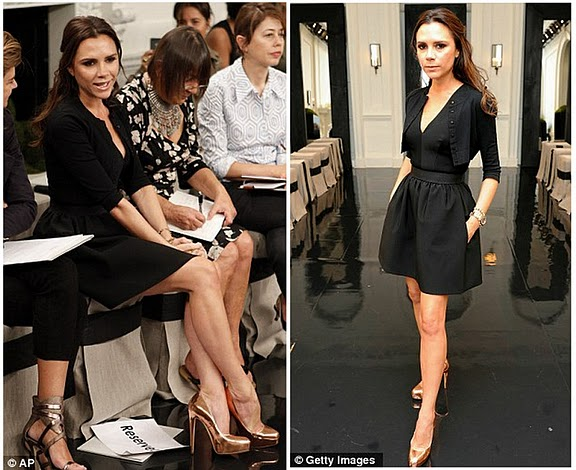 731d01944b Spotted: Victoria Beckham in rose gold Brian Atwood pumps ...