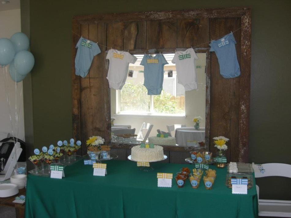 A bowtie themed baby shower!