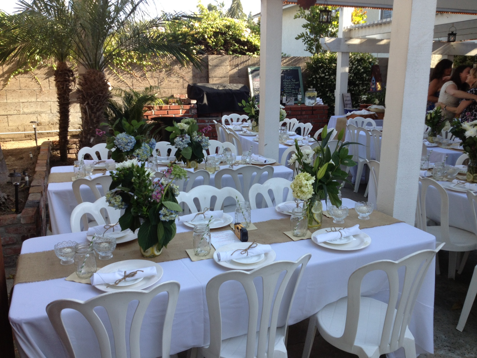 Wedding Reception In Backyard : Perfect SoCal weather for the perfect backyard wedding!