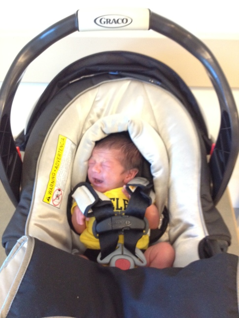 Car seat 1st day