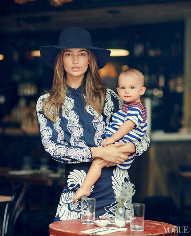 Lily Aldridge with daughter Dixie Pearl