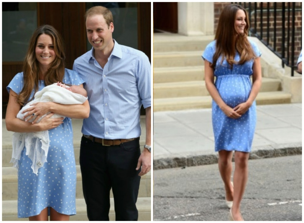 Princess Kate day after George's birth collage