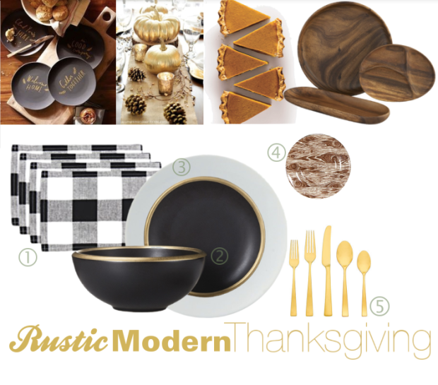 Modern Rustic Thanksgiving Table Decor