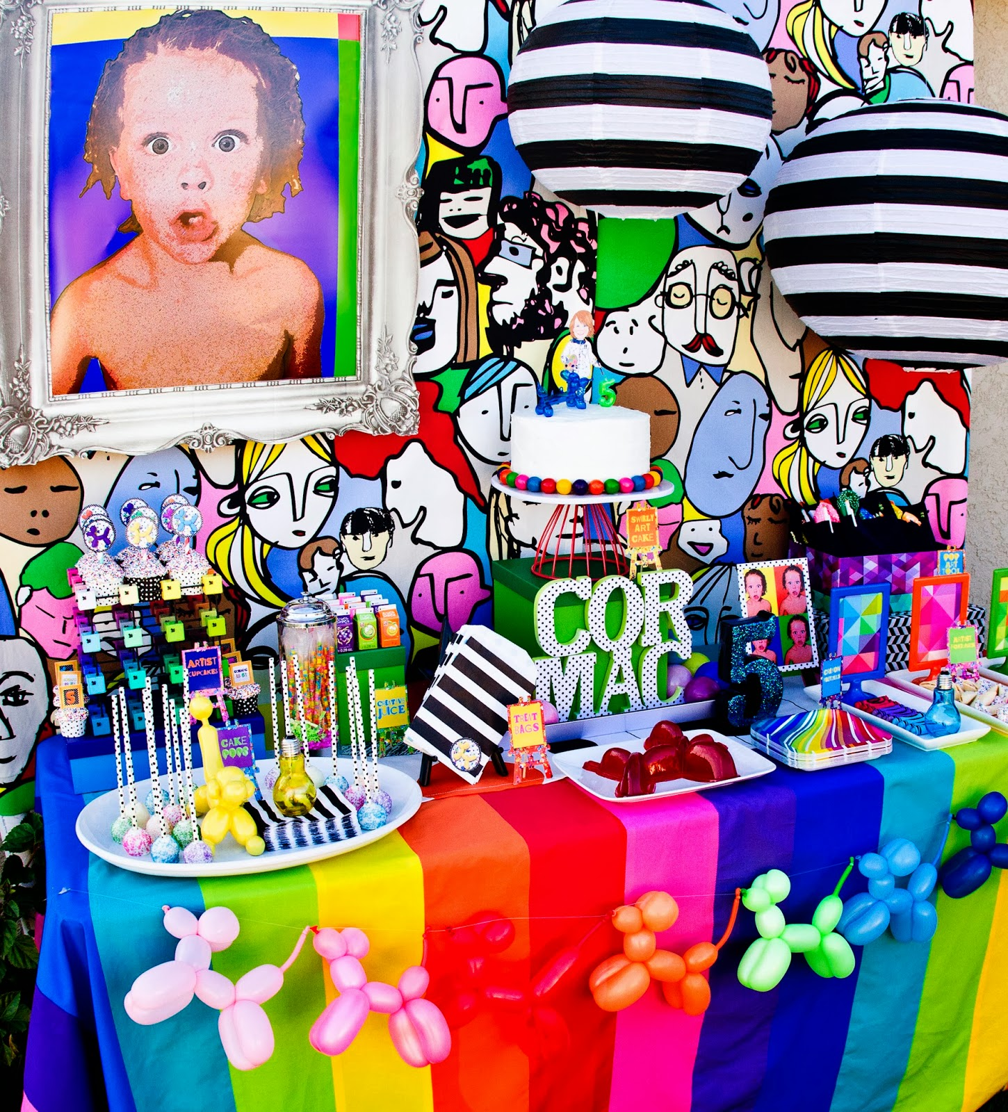 pop art party :: desert table view