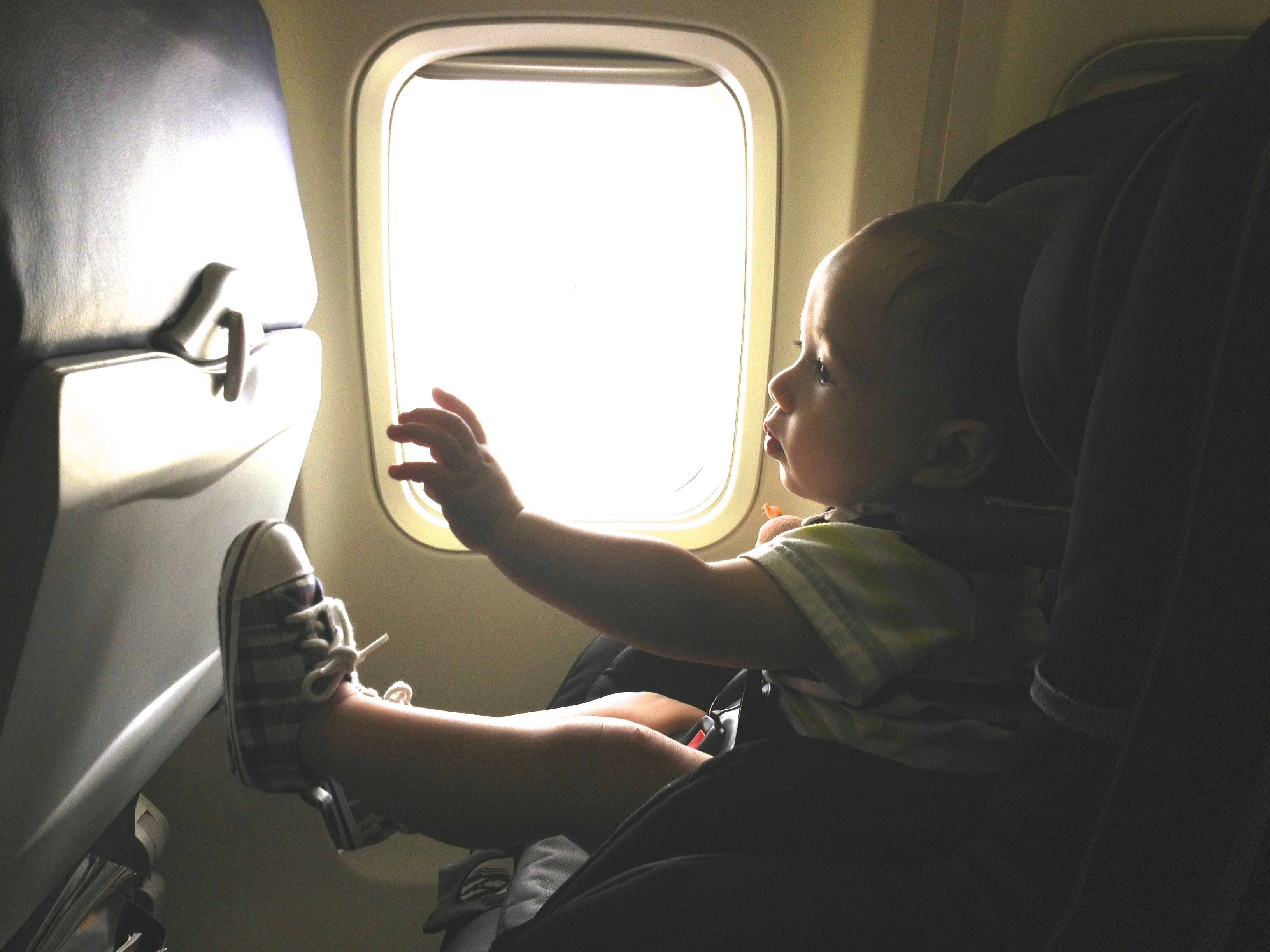 10 month old // airplane // seat