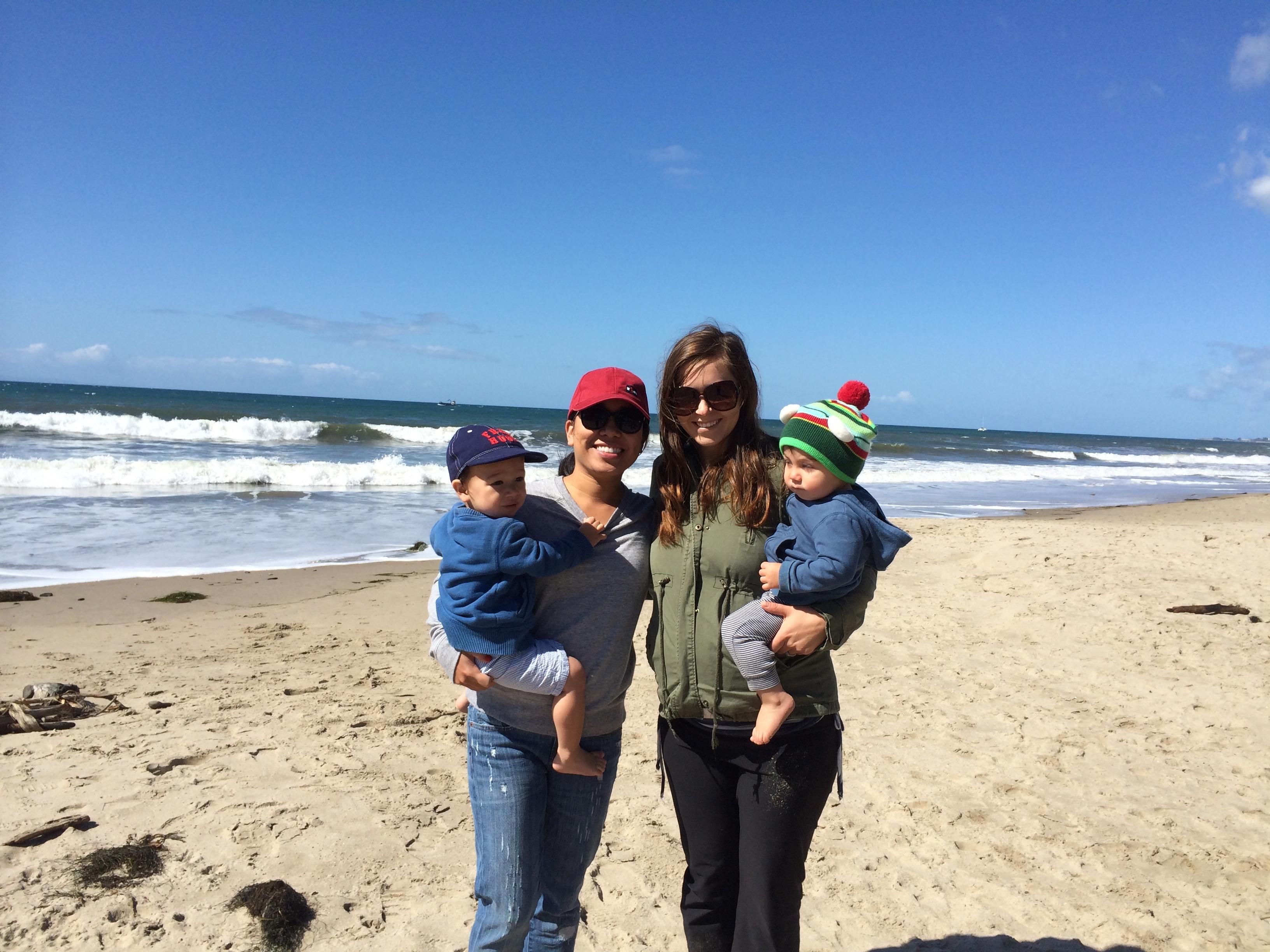 beach playdate // Hendry's Beach