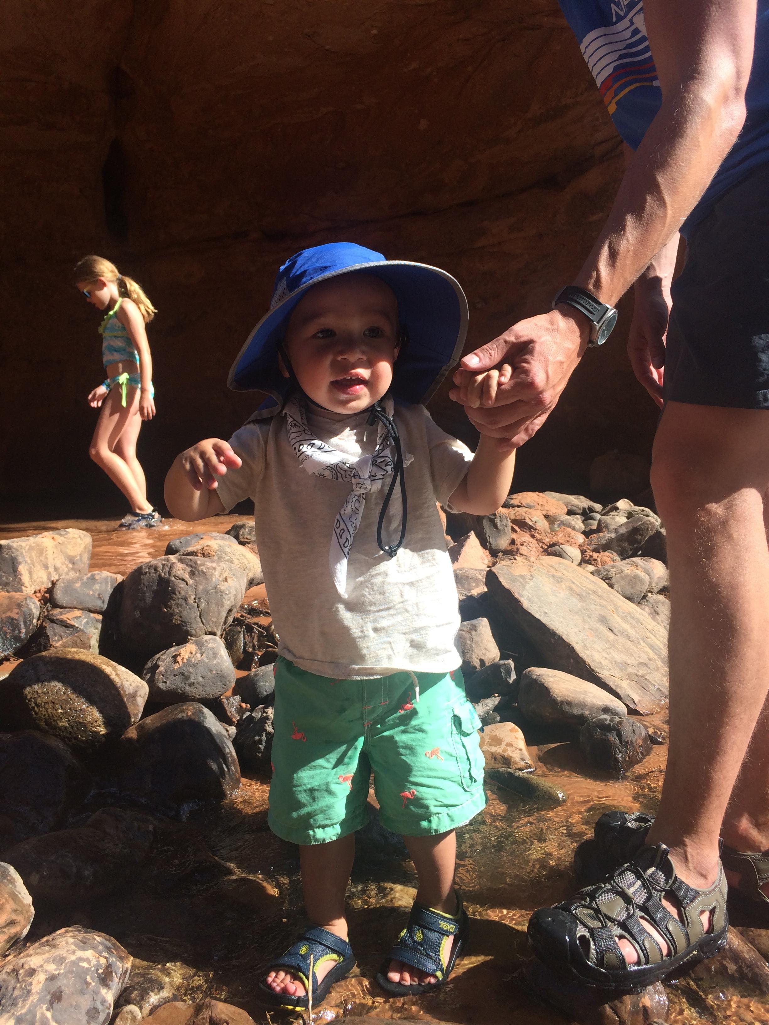 toddler hiking in moab utah