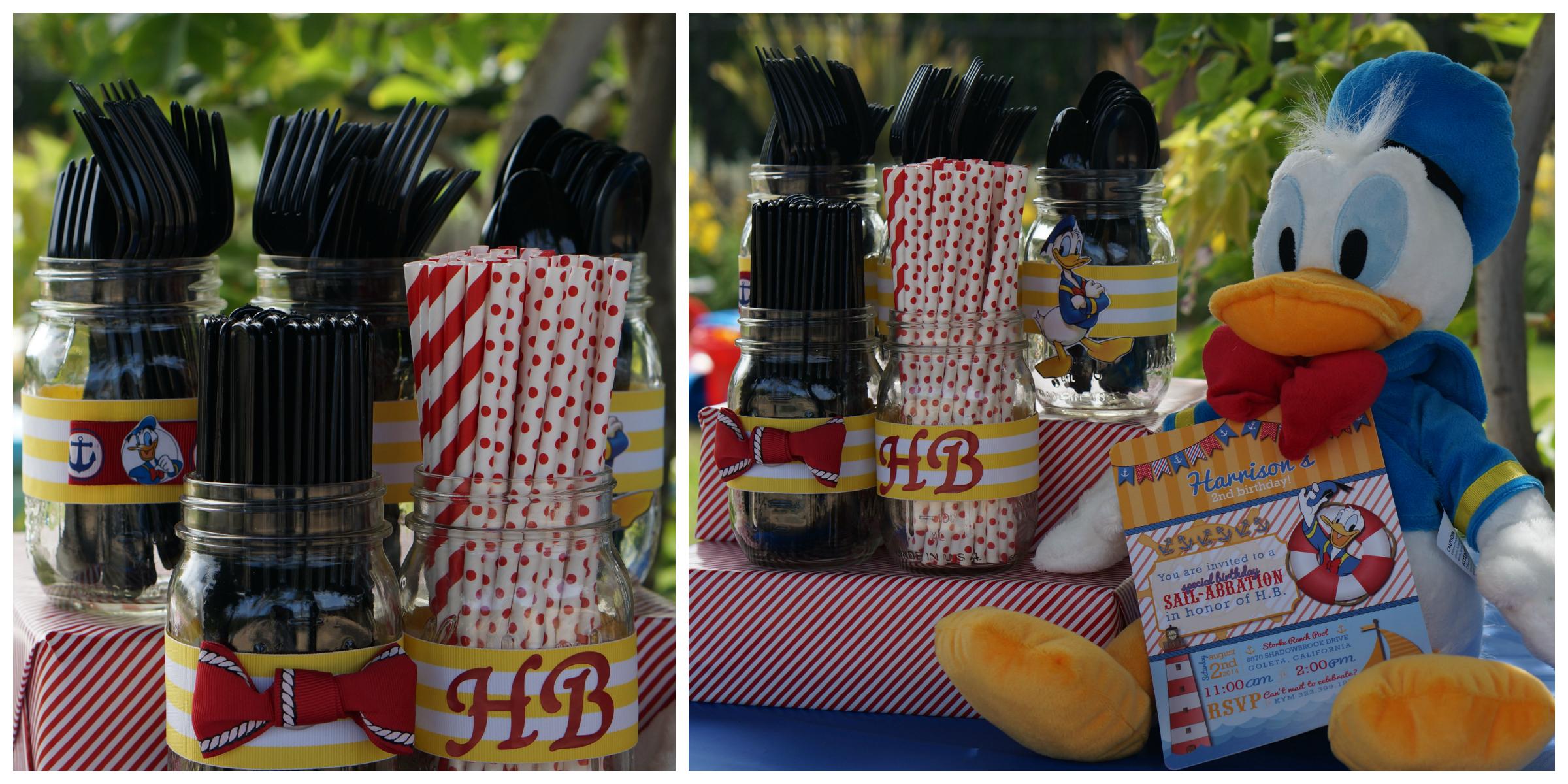Donald Duck Nautical birthday utensils