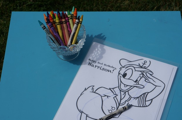 Donald Duck Nautical birthday // coloring book