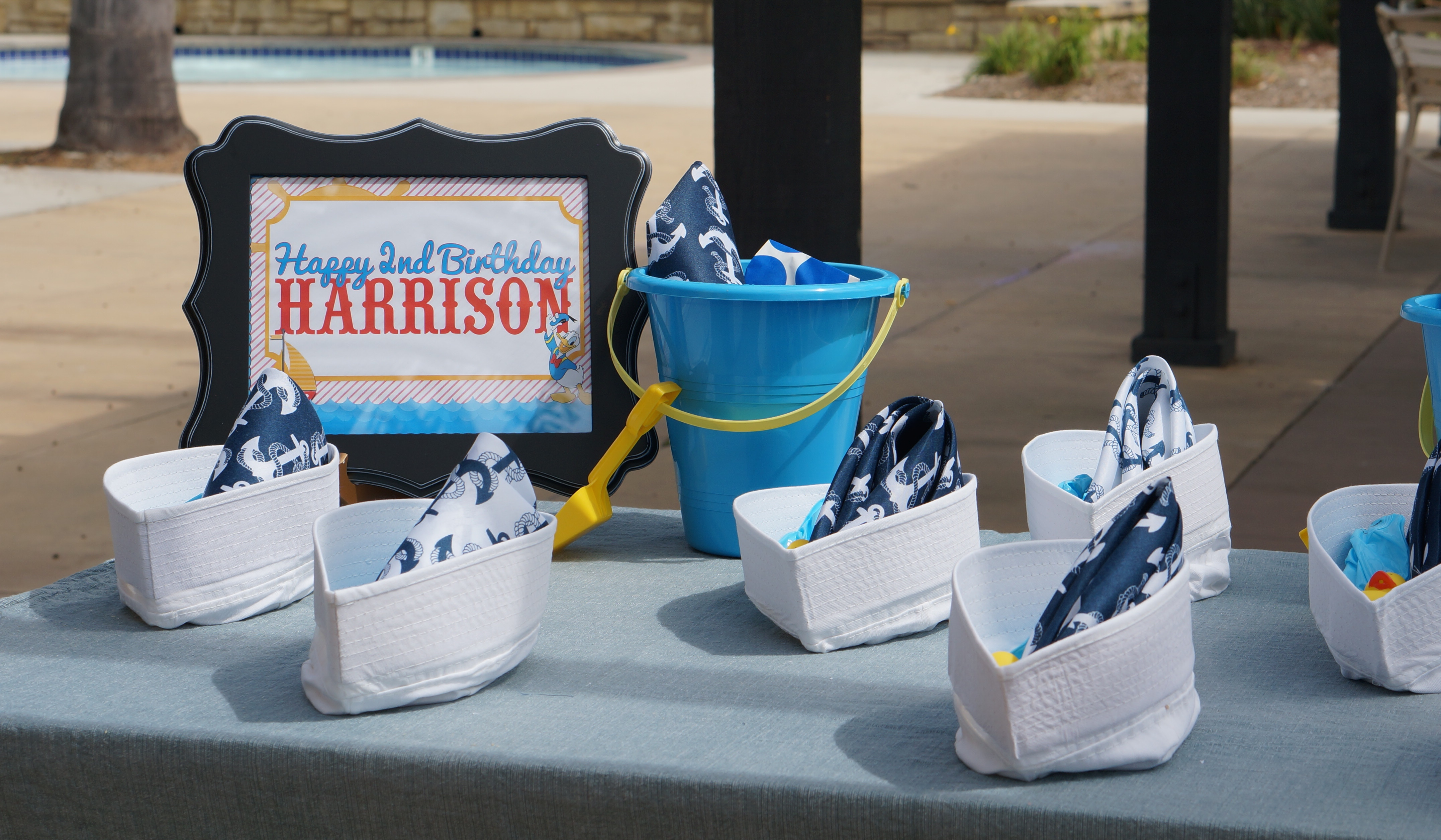 Donald Duck Nautical themed birthday party // party favors