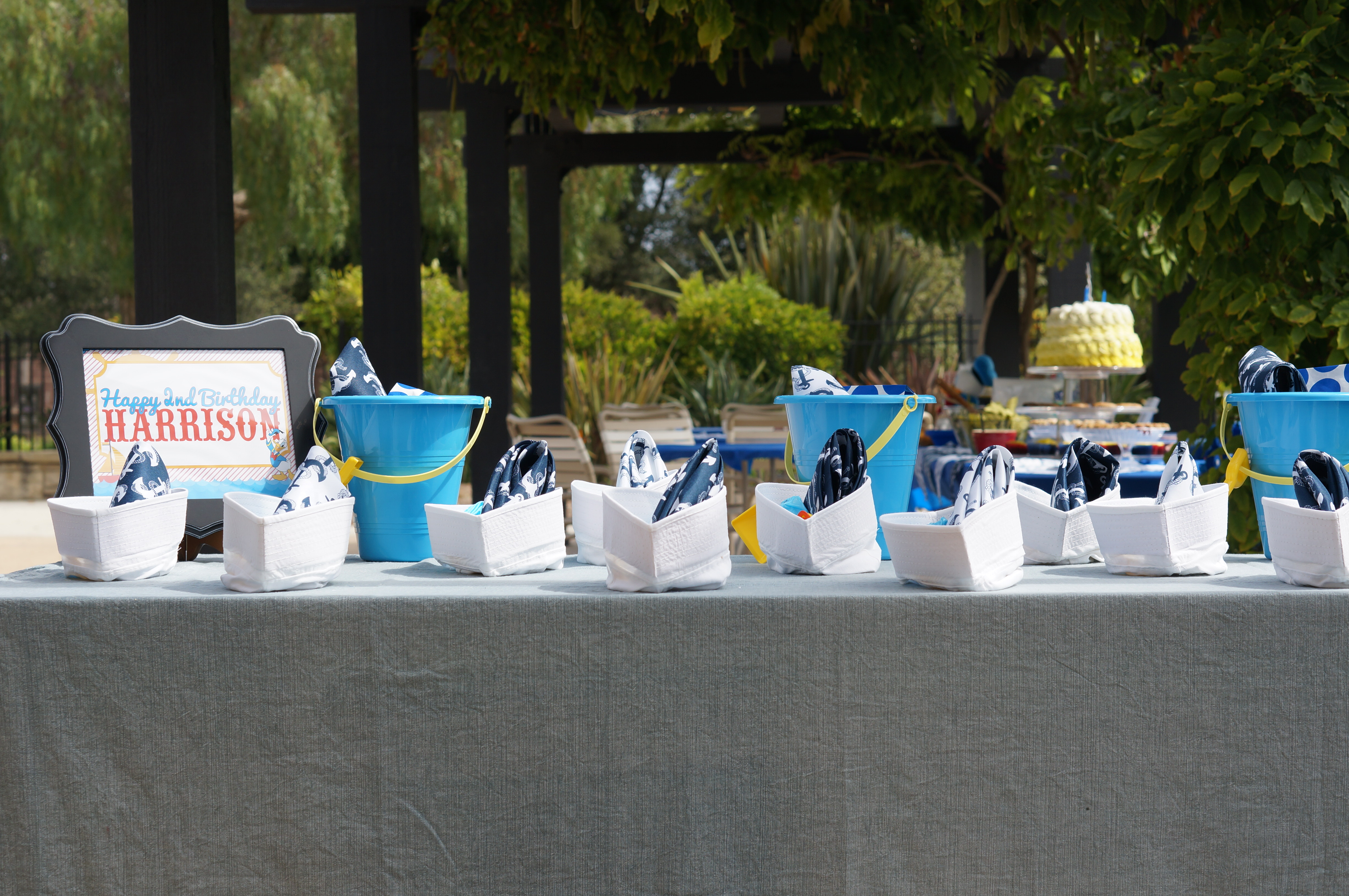 Donald Duck Nautical birthday // party favors