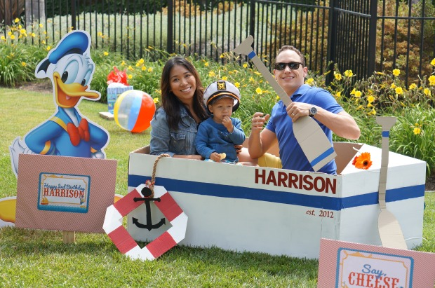 Donald Duck Nautical theme sailboat photo props