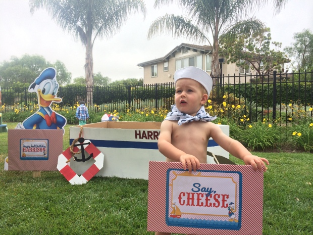 Donald Duck Nautical birthday party photo props